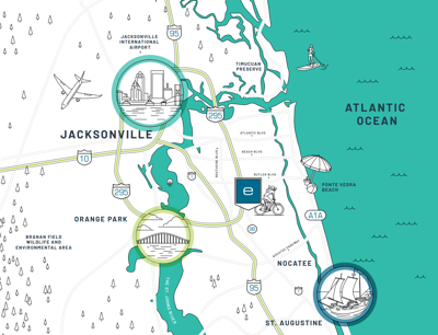 eTown Jacksonville Regional Map