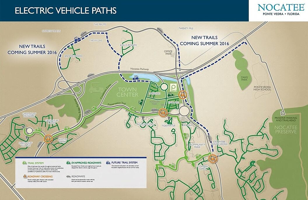 Nocatee Greenway Trails Expansion Map- Fall 2015