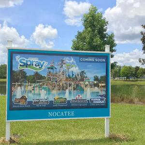 Nocatee Spray Park Coming-Soon Signage